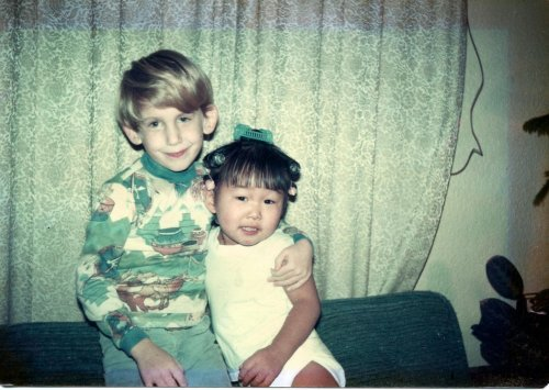 Jen & her brother Eric as children.