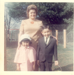 Director Barb Lee with her mother and brother.