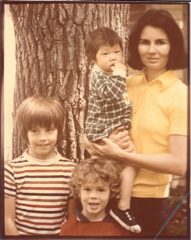 Nancy Kim Parsons with her family.